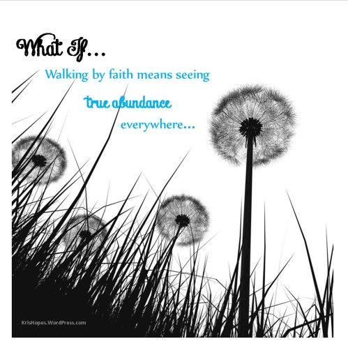 Walking by faith means so much more...