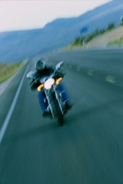 Motorcyclist on Highway